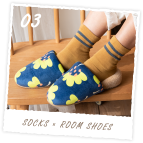 ROOM SOCKS × ROOM SHOES